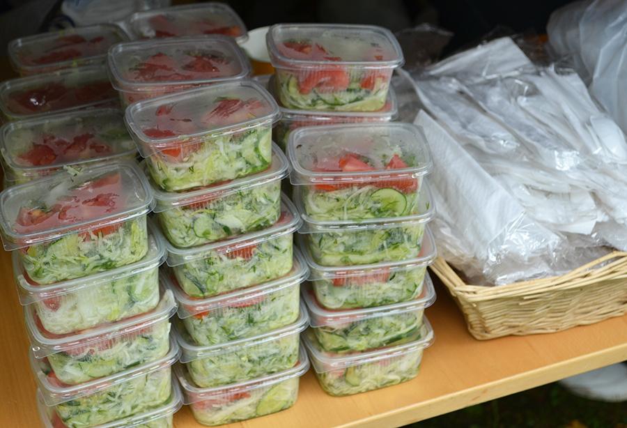 Салат на обед - полевая кухня