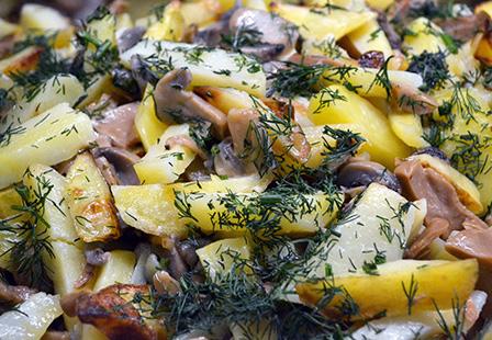 Картошка с гибами