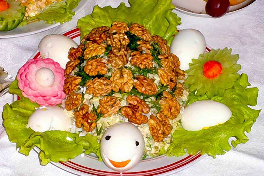 Салат Черепаха для праздничного обеда