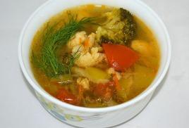 Суп овощной, постный