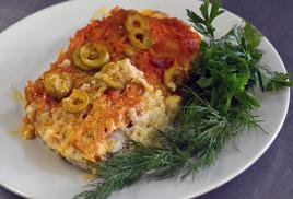 Хек саламис - рецепт из Греции