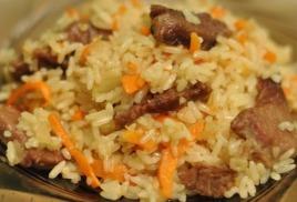 Плов из говядины - популярное блюдо среди наших клиентов