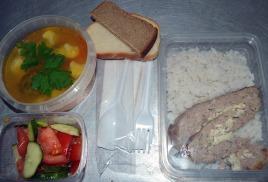 Комплексные обеды для строителей и рабочих за 90 рублей